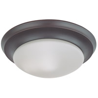 Nuvo 60/6013 Signature 1 Light 12 inch Mahogany Bronze Flush Mount Ceiling Light