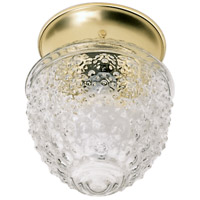 Nuvo 60/6031 Signature 1 Light 5 inch Polished Brass and Clear Pineapple Flush Mount Ceiling Light