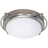 Polaris 2 Light 14 inch Brushed Nickel Flushmount Ceiling Light