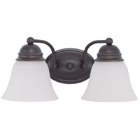 Nuvo 60/6086 Brentwood 2 Light 15 inch Mahogany Bronze Vanity Light Wall Light