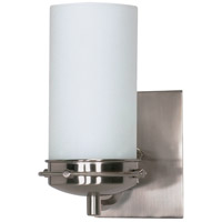 Polaris 1 Light 5 inch Brushed Nickel Vanity & Wall Wall Light