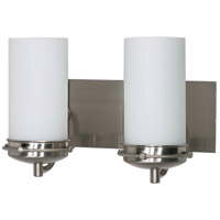 Nuvo 60/612 Polaris 2 Light 14 inch Brushed Nickel Vanity Light Wall Light