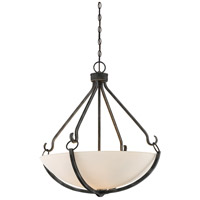 Nuvo 60/6125 Sherwood 4 Light 26 inch Iron Black and Brushed Nickel Accents Pendant Ceiling Light
