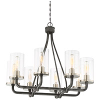 Sherwood 8 Light 25 inch Iron Black with Brushed Nickel Accents Chandelier Ceiling Light