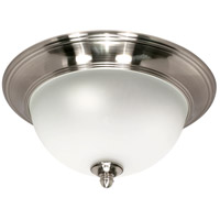 Palladium 1 Light 12 inch Smoked Nickel Flushmount Ceiling Light