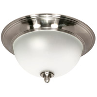 Palladium 3 Light 16 inch Smoked Nickel Flushmount Ceiling Light