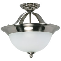 Palladium 3 Light 16 inch Smoked Nickel Semi-Flush Ceiling Light