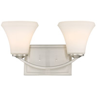 Nuvo 60/6202 Fawn 2 Light 15 inch Brushed Nickel Vanity Light Wall Light
