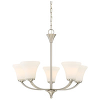 Nuvo 60/6205 Fawn 5 Light 25 inch Brushed Nickel Chandelier Ceiling Light