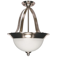 Palladium 3 Light 16 inch Smoked Nickel Pendant Ceiling Light
