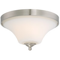 Nuvo 60/6211 Fawn 2 Light 14 inch Brushed Nickel Flush Mount Ceiling Light