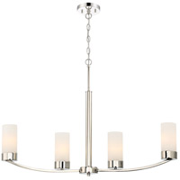 Denver 4 Light 34 inch Polished Nickel Island Pendant Ceiling Light