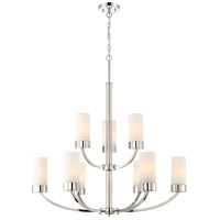 Nuvo 60/6229 Denver 9 Light 31 inch Polished Nickel Chandelier Ceiling Light photo thumbnail