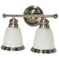 Palladium 2 Light 14 inch Smoked Nickel Vanity & Wall Wall Light