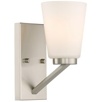 Nuvo 60/6241 Nome 1 Light 5 inch Brushed Nickel Vanity Light Wall Light