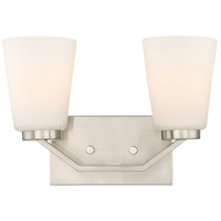 Nuvo 60/6242 Nome 2 Light 14 inch Brushed Nickel Vanity Light Wall Light