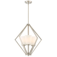 Nuvo 60/6245 Nome 3 Light 20 inch Brushed Nickel Pendant Ceiling Light