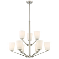 Nuvo 60/6249 Nome 9 Light 31 inch Brushed Nickel Chandelier Ceiling Light