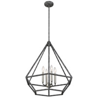 Orin 4 Light 24 inch Iron Black with Brushed Nickel Accents Pendant Ceiling Light