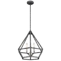 Nuvo 60/6262 Orin 3 Light 18 inch Iron Black with Brushed Nickel Accents Pendant Ceiling Light