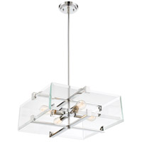 Shelby 4 Light 20 inch Polished Nickel Pendant Ceiling Light
