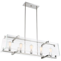 Shelby 5 Light 11 inch Polished Nickel Pendant Ceiling Light
