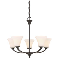 Nuvo 60/6305 Fawn 5 Light 25 inch Mahogany Bronze Chandelier Ceiling Light