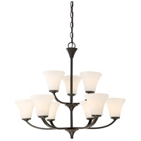 Nuvo 60/6309 Fawn 9 Light 30 inch Mahogany Bronze Chandelier Ceiling Light