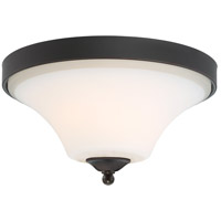 Nuvo 60/6311 Fawn 2 Light 14 inch Mahogany Bronze Flush Mount Ceiling Light