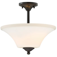Nuvo 60/6312 Fawn 2 Light 14 inch Mahogany Bronze Semi Flush Mount Ceiling Light
