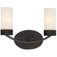 Nuvo 60/6322 Denver 2 Light 14 inch Mahogany Bronze Vanity Light Wall Light