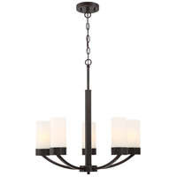 Denver 5 Light 12 inch Mahogany Bronze Chandelier Ceiling Light