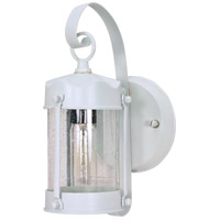 Nuvo Lighting Signature 1 Light Outdoor Wall Lantern in White 60/633 photo thumbnail
