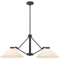 Nome 2 Light 37 inch Mahogany Bronze Island Pendant Ceiling Light