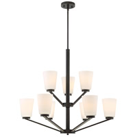 Nuvo 60/6349 Nome 9 Light 31 inch Mahogany Bronze Chandelier Ceiling Light