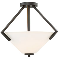 Nome 2 Light 16 inch Mahogany Bronze Semi Flush Mount Ceiling Light