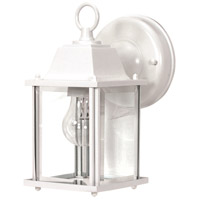 Nuvo Lighting Signature 1 Light Outdoor Wall Lantern in White 60/636 photo thumbnail