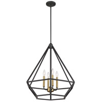 Orin 4 Light 24 inch Aged Bronze With Brass Accents Pendant Ceiling Light