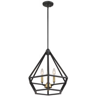 Nuvo 60/6362 Orin 3 Light 18 inch Aged Bronze and Brass Accents Pendant Ceiling Light