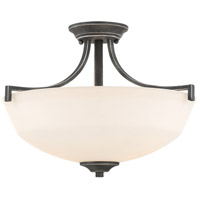 Chester 2 Light 16 inch Iron Black Flush Mount Ceiling Light