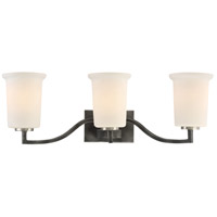 Chester 3 Light 24 inch Iron Black Vanity Light Wall Light