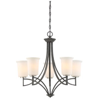 Nuvo 60/6375 Chester 5 Light 26 inch Iron Black Chandelier Ceiling Light