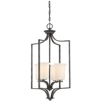 Nuvo 60/6376 Chester 4 Light 17 inch Iron Black Pendant Ceiling Light
