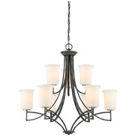 Nuvo 60/6379 Chester 9 Light 32 inch Iron Black Chandelier Ceiling Light