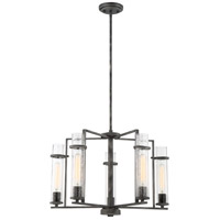 Nuvo 60/6385 Donzi 5 Light 25 inch Iron Black Chandelier Ceiling Light