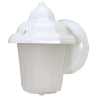 Nuvo Lighting Signature 1 Light Outdoor Wall Lantern in White 60/639 photo thumbnail