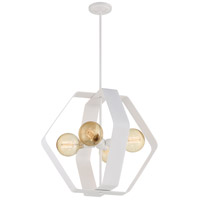 Nuvo 60/6397 Zen 4 Light 24 inch White Pendant Ceiling Light