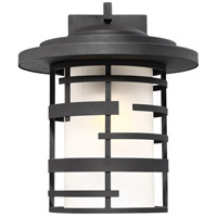 Lansing 1 Light 13 inch Textured Black Outdoor Wall Mount