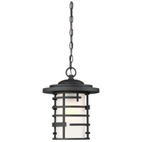 Lansing 1 Light 11 inch Textured Black Outdoor Pendant