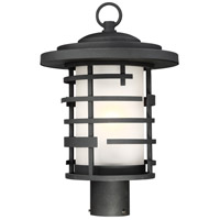 Nuvo 60/6406 Lansing 1 Light 17 inch Textured Black Outdoor Post Mount